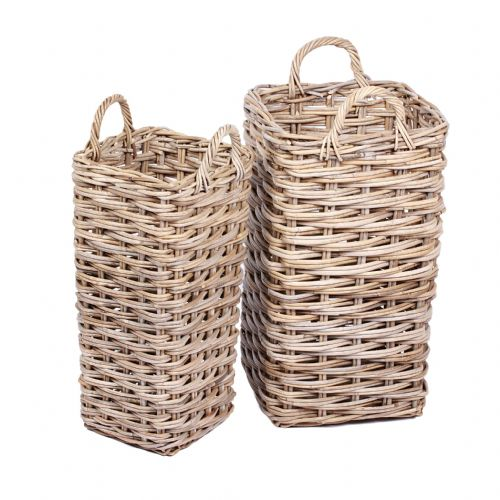 Set of 2 Umbrella Baskets with Ear Handles in Kooboo Grey